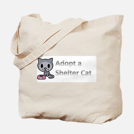 Adopt a Shelter Cat Tote Bag