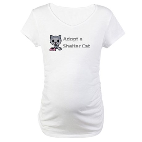 Adopt a Shelter Cat Maternity T-Shirt