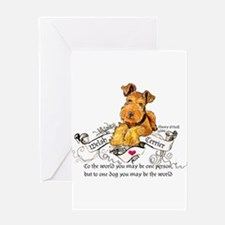 Welsh Terrier World Greeting Card