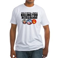 (w/BACK-ART) Obama-KILLING-Am Fitted Tee