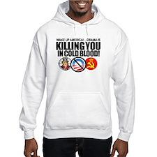 (w/BACK-ART) Obama-KILLING-Am Hoodie