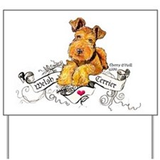 Welsh Terrier World Yard Sign