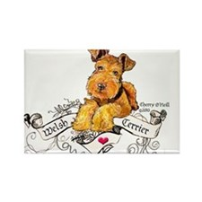 Welsh Terrier World Rectangle Magnet