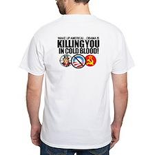 (w/BACK-ART) Obama-KILLING-America Value Tee