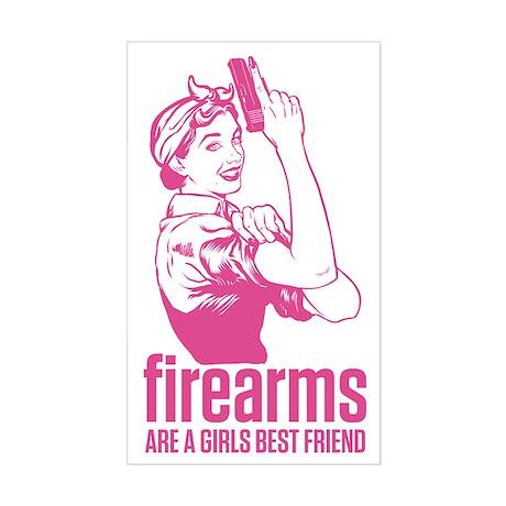 Girls Best Friend. Sticker (Rectangle)