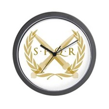 SPQR Roman Republic Wall Clock