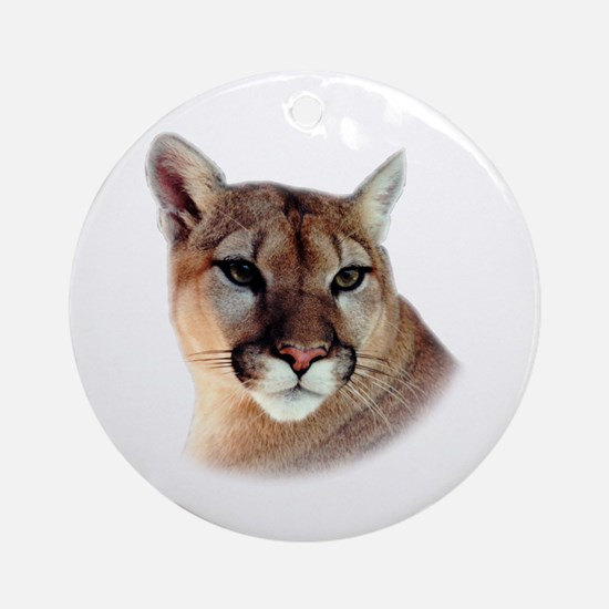Cindy Home & Office CougarWea Ornament (Round)