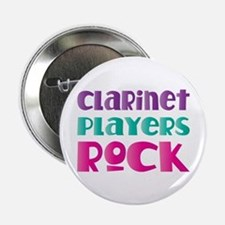 "Clarinet Players Rock 2.25"" Button"