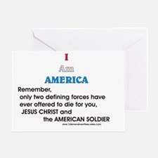 JC & American Soldier Greeting Card