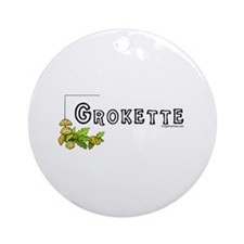 Grokette, paleo, primal Ornament (Round)