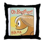 Laughing Bud Throw Pillow