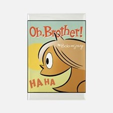Laughing Bud Rectangle Magnet