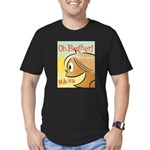 Laughing Bud Men's Fitted T-Shirt (dark)