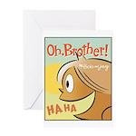 Laughing Bud Greeting Card