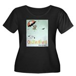 Beach Bud Women's Plus Size Scoop Neck Dark T-Shir