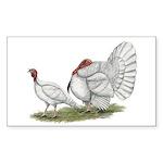 Turkeys: White Holland Sticker (Rectangle 50 pk)