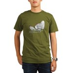Turkeys: White Holland Organic Men's T-Shirt (dark