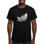 Turkeys: White Holland Men's Fitted T-Shirt (dark)