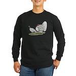 Turkeys: White Holland Long Sleeve Dark T-Shirt