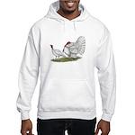 Turkeys: White Holland Hooded Sweatshirt
