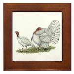 Turkeys: White Holland Framed Tile
