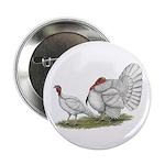 """Turkeys: White Holland 2.25"""" Button (10 pack)"""