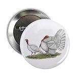 """Turkeys: White Holland 2.25"""" Button"""