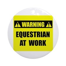 Equestrian At Work Ornament (Round)