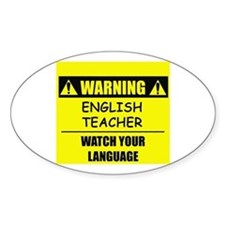 WARNING: English Teacher Decal