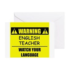 WARNING: English Teacher Greeting Card