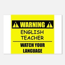 WARNING: English Teacher Postcards (Package of 8)