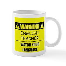 WARNING: English Teacher Small Mug