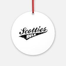 Scotties Rule Ornament (Round)