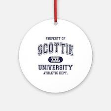 Scottie University Ornament (Round)
