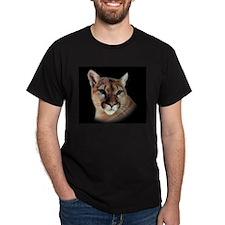 Cindy Black Cougar Stuff Black T-Shirt