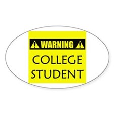 WARNING: College Student Decal