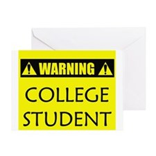 WARNING: College Student Greeting Card