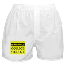WARNING: College Student Boxer Shorts
