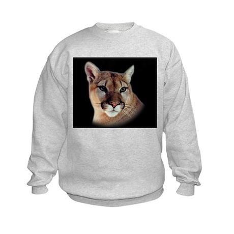 Cindy Black Cougar Stuff Kids Sweatshirt
