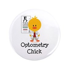"Optometry Chick Optometrist 3.5"" Button"
