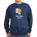 Optometry Chick Optometrist Sweatshirt (dark)