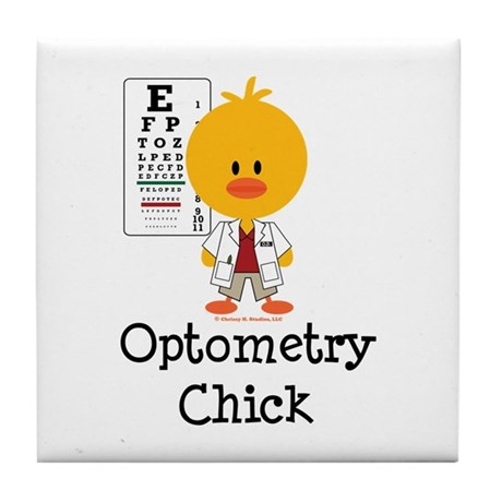 Optometry Chick Optometrist Tile Coaster