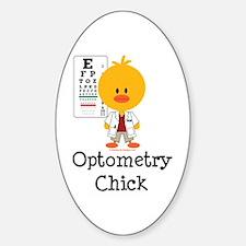 Optometry Chick Optometrist Decal