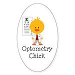 Optometry Chick Optometrist Sticker (Oval 10 pk)