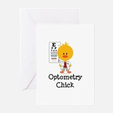 Optometry Chick Optometrist Greeting Cards (Pk of