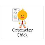 Optometry Chick Optometrist Small Poster