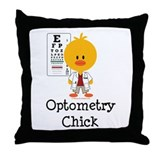 Optometry chick Throw Pillows