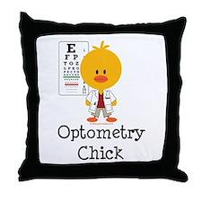 Optometry Chick Optometrist Throw Pillow