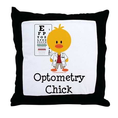 Optometry Chick Optometrist Throw Pillow