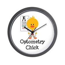 Optometry Chick Optometrist Wall Clock